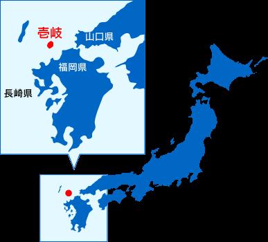 壱岐島の位置